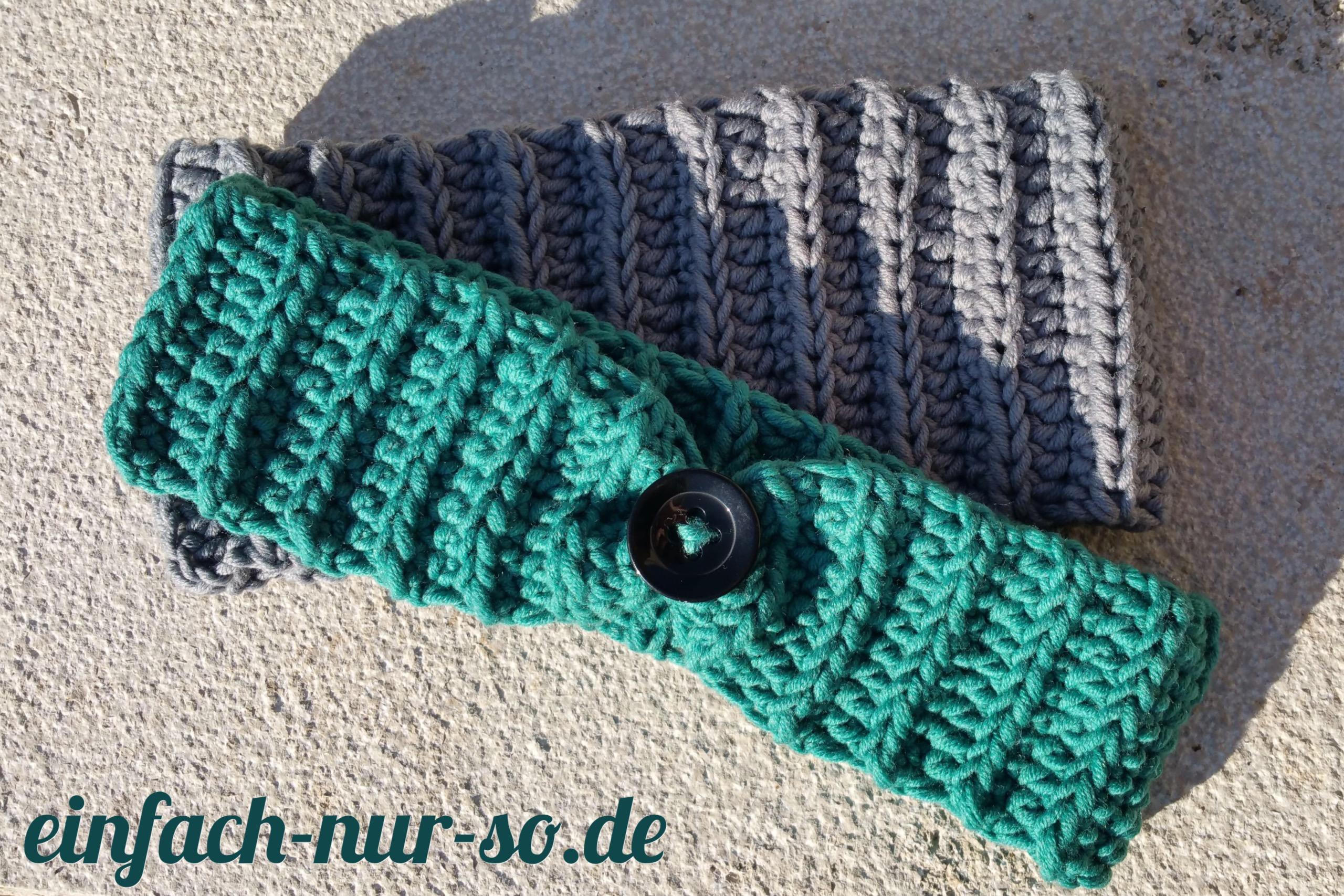 Breites Und Schmales Stirnband Mit Anleitung Einfach Nur Sode