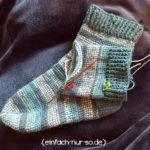 Tunesische Socken work
