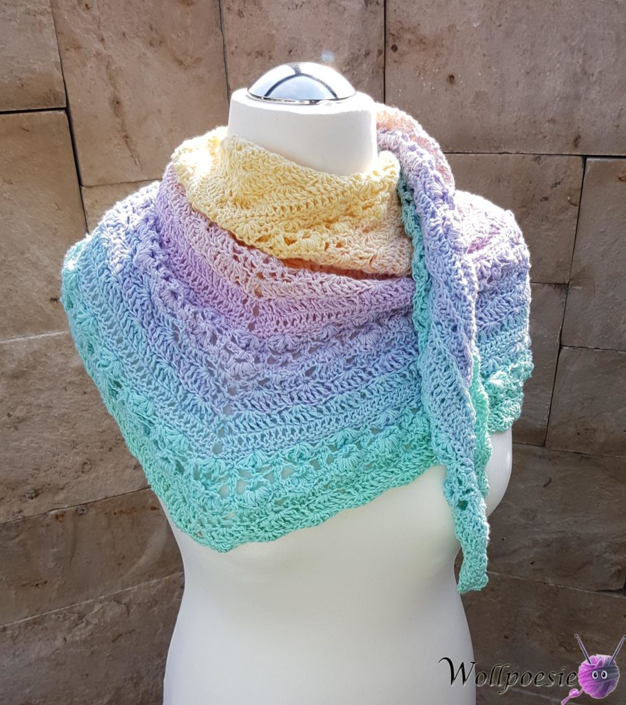 Flower Puff Shawl